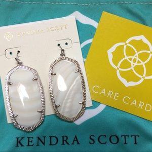 NWOT Kendra Scott Danielle White Drop Earrings